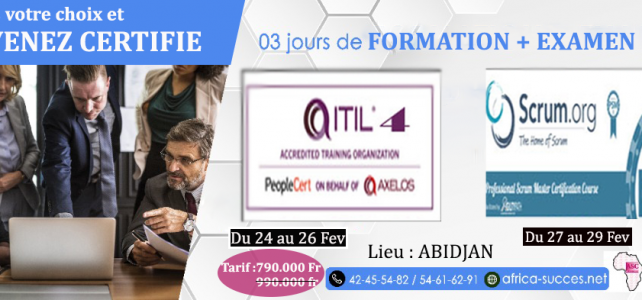 CERTIFICATIONS SCRUM PSM1 & ITIL V4