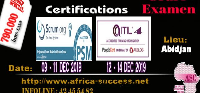 CERTIFICATIONS SCRUM PSM1 & ITIL V4